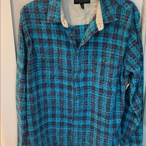 Blue and black flannel size extra large